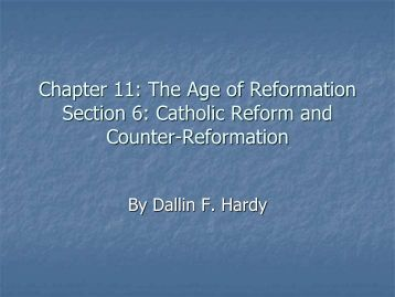 catholic reformation ushered an era of The catholic reformation was the intellectual counter-force to protestantism the desire for reform within the catholic church had started before the spread of.