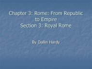 Chapter 3 Section 3: Royal Rome