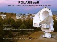 POLARBeaR - Rencontres de Moriond