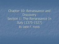 The Renaissance In Italy (1375-1527)