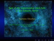 @let@token Spin of the supermassive black hole in the Galactic center