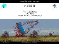 HESS-II - Rencontres de Moriond