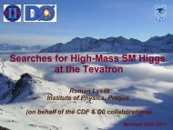 Searches for High-Mass SM Higgs at the Tevatron - CDF