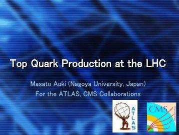 Top Quark Production at the LHC