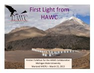 First Light from HAWC - Rencontres de Moriond