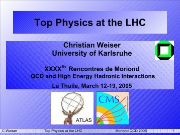 Top Physics at the LHC - Rencontres de Moriond