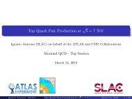 Top Quark Pair Production at s= 7 TeV