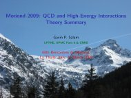 Moriond 2009: QCD and High-Energy Interactions Theory ... - lpthe