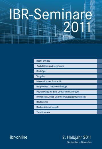 2. Halbjahr 2011 ibr-online