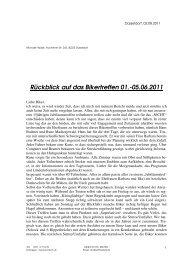 Rückblick Bodensee 2011 & Vorschau auf die ... - Mormon Bikers