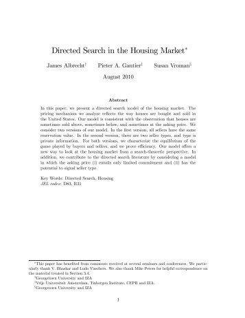 Directed Search in the Housing Market∗