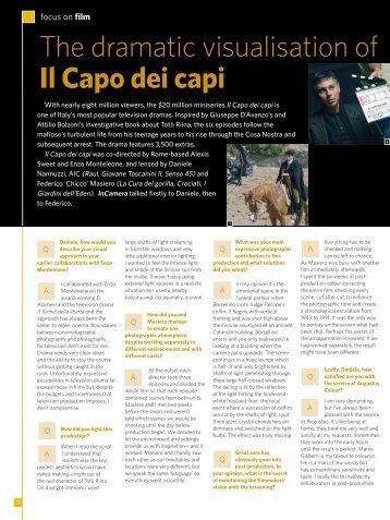 The dramatic visualisation of Il Capo dei capi - Kodak