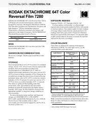 KODAK EKTACHROME 64T Color Reversal Film 7280