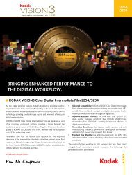 bringing enhanced performance to the digital workflow. - Kodak