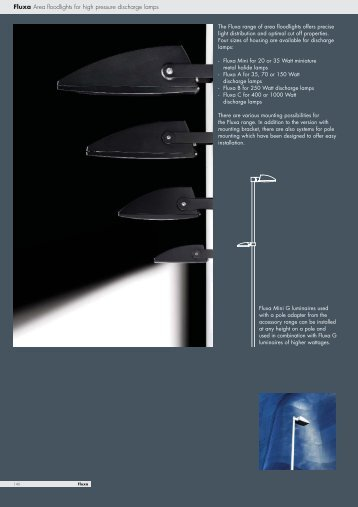 Fluxa Area floodlights for high pressure discharge lamps