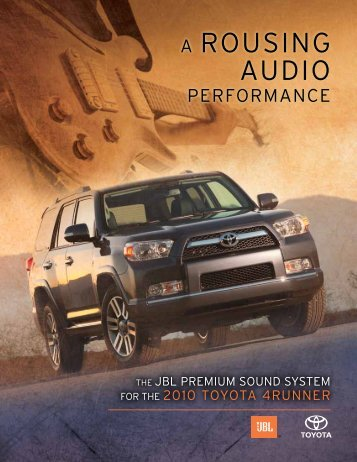 JBL-4Runner Brochure - MotorShow