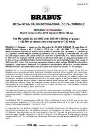 MEDIA KIT 83e SALON INTERNATIONAL DE L ... - MotorShow