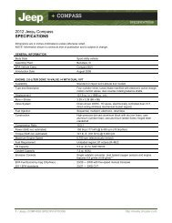 2012 Compass - Specifications - MotorShow