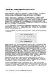 Kapitel 6: Evaluering af efteruddannelse (4 sider) - Idethandling.com
