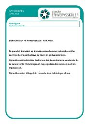 NYHEDSBREV - Danske Erhvervsskoler