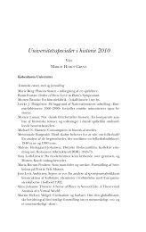 Universitetsspecialer i historie 2010 - Historisk Tidsskrift