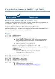 Elevplankonference, SOSU 21/9 2010 - AdmSys - Uni-C