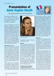 Præsentation af Anne Sophie Westh – Ny fagkonsulent for tysk og ...
