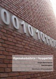 Egenskabsdata i byggeriet Kasper Bernt Hansen ... - BIMbyen.dk