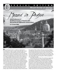 special issue: prague 2009 - Mozart Society of America