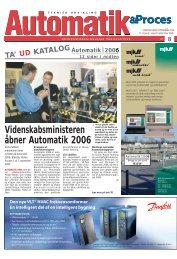 Videnskabsministeren åbner Automatik 2006 - Teknik og Viden