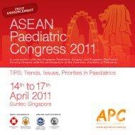 AseAn Paediatric Congress 2011 - Malaysian Paediatric Association