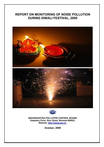 report on monitoring of noise pollution during diwali festival, 2009