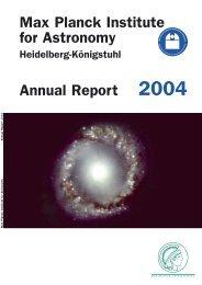 Annual Report 2004 - Max-Planck-Institut für Astronomie