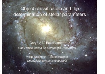 Object classification and the determination of stellar parameters