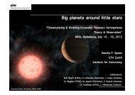 Big planets around little stars