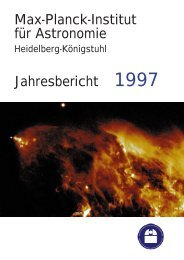 Jahresbericht 1997 - Max-Planck-Institut für Astronomie