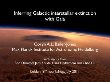 Inferring Galactic interstellar extinction with Gaia