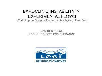 "Jan-Bert Flor: ""The Importance of Baroclinic Instability in Stratified ..."