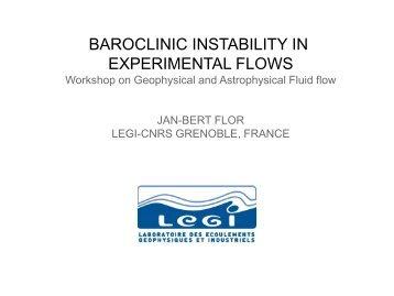 "Jan-Bert Flor: ""The Importance of Baroclinic Instability in Stratified ..."