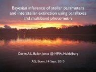 Bayesian inference of stellar parameters and interstellar extinction ...