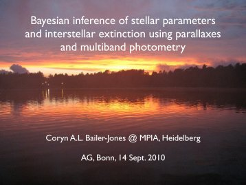 Bayesian inference of stellar parameters and interstellar extinction ...