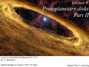 L6 Protoplanetary disks Part II