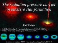 The radiation pressure barrier in massive star formation Rolf Kuiper