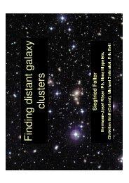 Siegfried Falter: Galaxy Cluster Finding