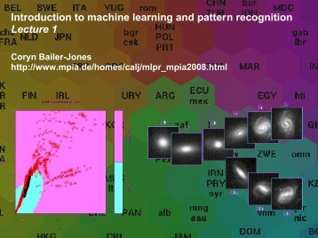 Introduction to machine learning and pattern recognition Lecture 1