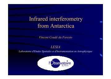 Infrared interferometry from Antarctica