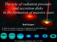 The role of radiation pressure and accretion disks in the formation of ...