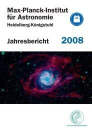 Max-Planck-Institut für Astronomie - Jahresbericht 2008