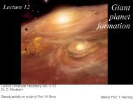 L12 Giant planet formation