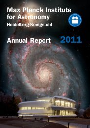 Annual Report 2011 Max Planck Institute for Astronomy